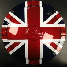 "Spare wheel hub cap Union Jack 10"" 4 hole Innocenti logo for Lambretta"