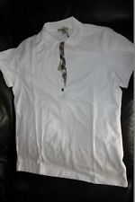 burberry Brit Women Haymarktet White Check Shirt L LARGE