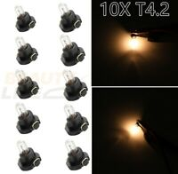 10x Warm White T4.2 Neo Wedge Dash A/C Climate Heater Control Light Switch Bulbs