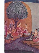 Galconda School India Gulrukh Banu picnicing with friends Postcard Unused VGC