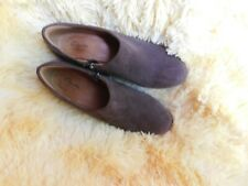 "Women's Clarks 3"" Wedge Heels Size 7.5 (B,M) Dress/Casual Solid Brown Suede"