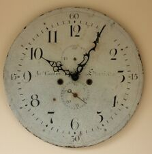 Antique JS Coates, Stourbridge Clock Face. 18th Century Painted Dial Wall Clock