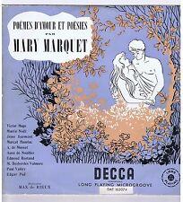 LP MARY MARQUET POEMES D'AMOUR ET POESIE