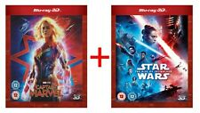Captain Marvel + Star Wars:The Rise of Skywalker Movie Collection BLU-RAY 3D