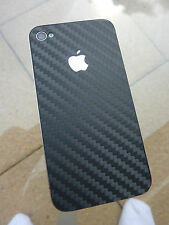 iPhone 4 & 4s -  carbon vinyl rear + clear front cover