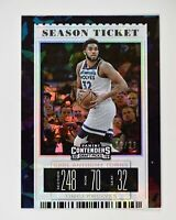 2019-20 Contenders Draft Picks Cracked Ice Variation #25 Karl-Anthony Towns /23