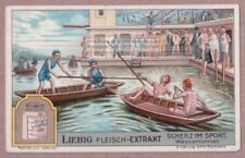 Boat Jousting Men With Poles Bizarre Sport Games c1920 Trade Ad Card