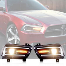 LED 2015 Model Headlights For Dodge Charger 2011-2014 Sequential Turn Indicator