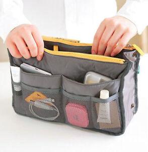 Women Multi-function Travel Insert Handbag Large Storage Bag Tote Organizer