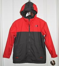 Sz M 10/12 Boys Youth The North Face Shell Windbreaker Jacket Red Gray Dryvent