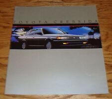 Original 1985 Toyota Cressida Deluxe Sales Brochure 85