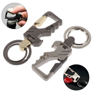 Beer Bottle Opener Keychain Pocket Key Chain Multifunctional Car Key Ring To`sy