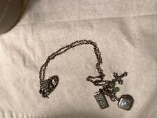 Cross Gem stone Faith Necklace silver plated charm pendant