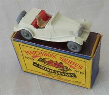 1950s.Matchbox.Lesney.19 'MG MIDGET'white  Metal wheels.Mint in box.original