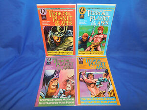 TERROR ON THE PLANET OF THE APES #1-4 COMPLETE SET 1991 ADVENTURE COMICS