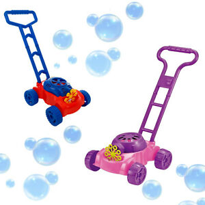 Kids Bubble Lawnmower Bubbles Machine Blower Outdoor Garden Party Toddler Toy