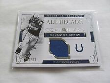 2016 National Treasures FB ALL-DECADE #27 Raymond Berry Colts JERSEY RELIC #/99!
