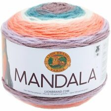 New listing Lion Brand Yarns Mandala Baby Cakes New 3 Skein Ball Lot Pegasus 210 Peach Teal