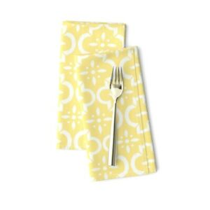 Moroccan Tile Quatrefoil Lattice Cotton Dinner Napkins by Roostery Set of 2