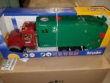 Bruder Toys Mack Granite Garbage Truck Ruby Red Green