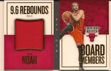 JOAKIM NOAH 2015-16 PANINI PREFERRED BOARD MEMBERS GAME USED JERSEY BOOKLET /149