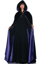 "Brand New 63"" Deluxe Velvet and Satin Cape Adult Costume Accessory (Purple)"