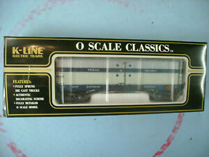 K-LINE O SCALE K7611 REFFER T&P TEXAS & PACIFIC D/C TRUCK ELECTRIC TRAIN CAR