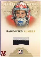 2008-09 Between The Pipes Game-Used Number Gold Dustin Tokarski Vault Red 1/1