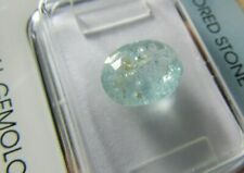 IGI Certified(Antwerp) 2.60ct  Oval Cut Bluish Green Cuprian Tourmaline.