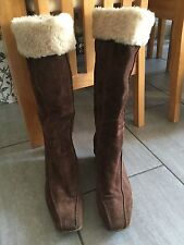 Dorothy Perkins Ladies Brown Wedge Mid Calf Boots Size 42 / 8. Good Condition.