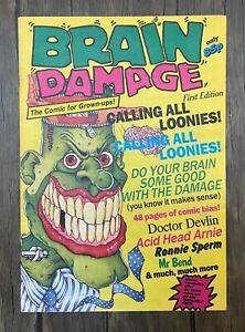 Brain Damage Comic - 1989  - Volume 1 Issue 1 - Ref C128 - Free Postage