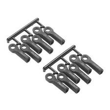 RPM 80512 Long Rod Ends (12), Black: Traxxas 1/10 Slash 4x4, 2wd, Stampede Revo
