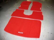 Peugeot 205 Conduite à gauche Rouge Super Velours Tapis de Voiture + Blanc Gti