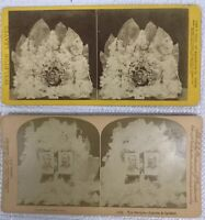 Lot of 2 Vintage 3D Stereoview Cards Lincoln Garfield The Martyrs Presidents