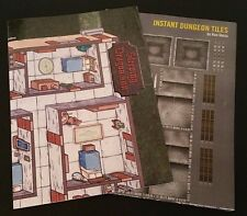 SLEEPING DRAGON INN + INSTANT DUNGEON TILES Map Poster Lot Paizo Magazine NEW!!