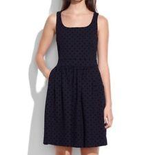 Madewell Black Velvet Polka Dot Sleeveless Mini Dress Size S Small