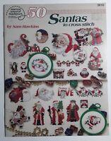 50 Santas To Cross Stitch Sam Hawkins American School of Needlework Christmas