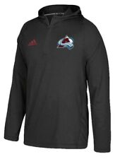 NEW Adidas NHL Colorado Avalanche Climawarm 1/4 Zip Men's Training Hoodie