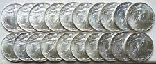 ROLL OF 20 1987 $1 AMERICAN SILVER EAGLES 1 Oz BULLION COINS BU