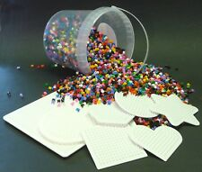 Bügelperlen Eimer mit 10 000 Perlen + 7 Stiftplatten in TOP QUALITÄT       86-01