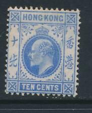 HONG KONG, 1907 10c blue very fine mounted mint, cat £65