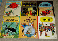 Lot of 6 Spanish TinTin Comic Books Herge Las Aventuras de Tintin HC/SC Juventud