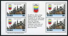 Ireland 708b, MNH. Dublin Millennium Booklet pane of 4 in English, 1988