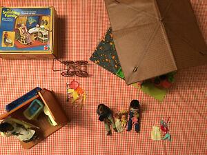 Mattel Sunshine + Happy Family Bungalow + Kinderzimmer - Familie Sonnenschein