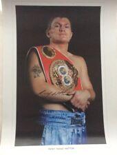 Ricky Hatton signed Photo Print 20x14 Proof Coa