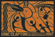 MINT Eric Clapton 2007 Sperry Firehouse Australia Tour SIGNED Poster
