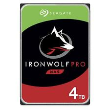 "Seagate 4TB IronWolf Pro NAS Hard Drive 3.5"" SATA 6GB/s 7200RPM 128MB Cache"