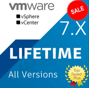 VMware ☑️ ESXi ☑️ vSphere 7.X Enterprise + CPU ☑️ LIFETIME KEY☑️Fast Delivery📩