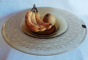 Grande coupe à Fruits en Verre d'Art VERAME à Metz 1925 - 1935 ART-DÉCO XXème