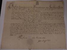 Geburtsbrief Döben (Grimma) 1771 für Johann Christian Wendisch (*1750)